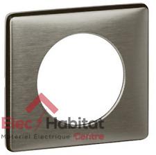 Plaque simple métal Céliane tungstène Legrand 68971