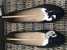 Womens Clarks Carousel Ride black leather flat pumps BNIB size 9/43