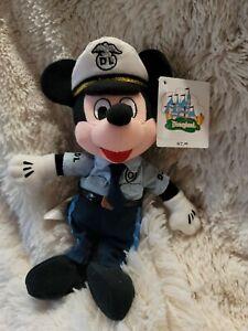 2000 policeman police Mickey Mouse Disneyland park mbbp bean bag plush
