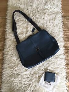 COACH Airforce Leather Large Satchel Bag & Wallet