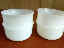4 Arcopal Dip Bowls Translucent Glass