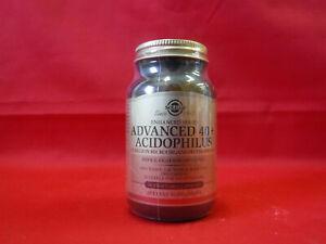ADVANCED 40+ ACIDOPHILUS - SOLGAR - 60 CAPSULES - 04/2021