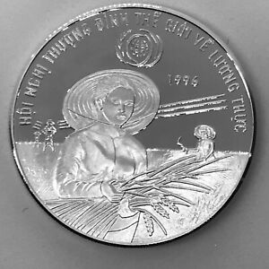 Vietnam 100 dong Silver Proof 1996 FAO World Food Summit KM#50 Mintage 2000