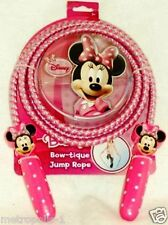 """DISNEY MINNIE MOUSE BOW-TIQUE KIDS JUMP ROPE,84"""" TRICOLOR SKIPPING ROPE,6+,NEW"""