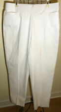 NWT Womens Sz 16 Alfred Dunner ALLURE White Stretch Pull On Pants MODERN FIT