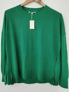 BNWT Maje Green Pure Cashmere Jumper Size 2 / Medium * Faulty  small hole in arm