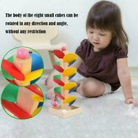 Montessori Educational Toy Wooden Tree Marble Ball Track Run Children Game N4U0