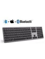 seenda Aluminum Mac Keyboard,Rechargeable Bluetooth Wireless Keyboard