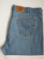 LEVI'S JEANS MENS HIGH WAISTED TAPERED LEG W44 L30 LIGHT BLUE STRAUSS LEVQ104