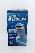 New Brita Stream Filter As You Pour Pitcher Replacement Cartridge Ob05 Nsf Cert