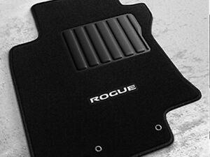 2014-2020 Nissan Rogue Front & Rear Carpet Floor Mats Black w/ Logo 4pc OEM