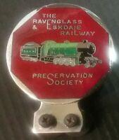 Scarce The Ravenglass & Eskdale Railway Preservation Society Enamel Car Badge