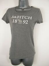 WOMENS ABERCROMBIE & FITCH GREY CREW NECK SHORT SLEEVE T SHIRT TOP XS XSMALL