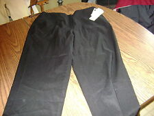 ANNE KLEIN WOMENS DRESS PANTS (NWT) SIZE 12 BLACK VERY NICE $89.00