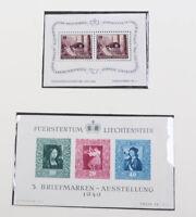 Liechtenstein 1945 bis 1988 postfrische Sammlung mit vielen Spitzen, Blocks etc.