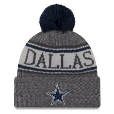 04e7bf9c3 DALLAS COWBOYS NFL NEW ERA OFFICIAL REVERSE GRAY SIDELINE BEANIE KNIT HAT   28