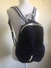 brandy melville black semi-mini backpack with white stripe NWT