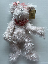 Bearington Collection Camille Pink Plush Stuffed Jointed Bear with Roses