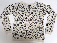 RUE 21 Women's T-shirt Sweater Cross Beige, Gold & Black Small  FREESHIP  A342