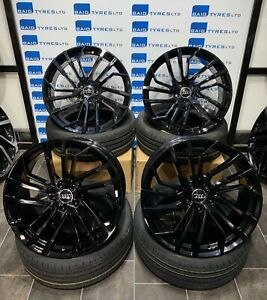 AUDI 20'' INCH RS5 2021 STYLE NEW BLACK ALLOY WHEELS & TYRES FITS AUDI Q5 / SQ5