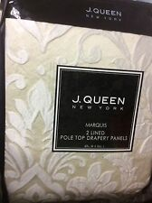 J Queen New York 2 Lined Pole Top Drapes 49x84 Curtain Drapery Panels Marquis