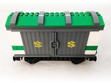 LEGO City 3677 Cargo Money Train Railroad Car Green Wagon