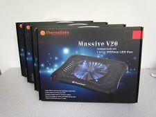 Lot of 4 Thermaltake Massive V20 Steel Mesh Panel Single 200mm Blue LED Fan NEW