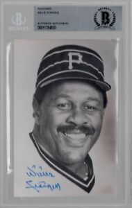 Willie Stargell Pirates Signed Autograph 3.5 x 5.5 Postcard BAS Beckett