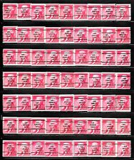 LOS ANGELES, CALIFORNIA Bureau Precancels #1055-63 Jefferson Stamps Lot of 63