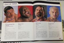 Kazushi Sakuraba Royce Gracie +6 Signed K-1 Pride Dynamite Program PSA/DNA UFC