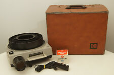 Kodak Ektagraphic Slide Projector Model E-2 with case, remote, and extra bulb