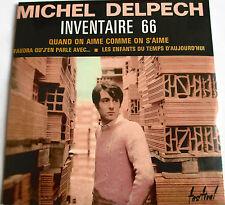 """MICHEL DELPECH - CD SINGLE """"EP"""" """"INVENTAIRE 66"""" -  ÉDITION LIMITÉE (N°24) - NEUF"""