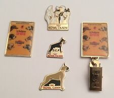 Lot 5 Pin's Alimentation Chiens Pet Food Dog Royal Canin Pedigree Pal