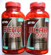 MET-Rx BCAA 2200 Builds Protein, Energy, Metabolism, Vit.B6 360softgels 2018-19