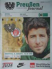 Programm Pokal 2013/14 SC Preußen Münster - FC St. Pauli