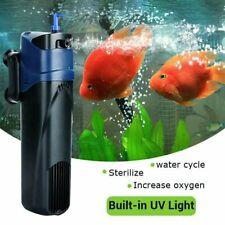 5W 500L/H UV Sterilizer Submersible Aquarium Oxygen Pump Fish Tank Mute Filter