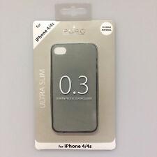 boîtier ULTRA MINCE 0.3 Pochette de protection pour apple iphone 4 4S Noir Puro