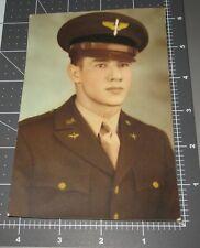 Handsome WWII Pilot Instructor Badge Aviation Man Air Corp Vintage Studio PHOTO