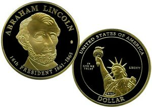 ABRAHAM LINCOLN DOLLAR TRIAL COIN PROOF VALUE $99.95