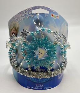 Disney Parks Frozen Queen Elsa Costume Kids play Dress up Tiara Crown