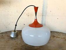 lampadario anni 50 stile stilnovo vetro lamp vintage modernariato