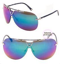 CHRISTIAN DIOR Sunglasses DIOR 57TH Shield Unisex Blue Purple Green Mirrored
