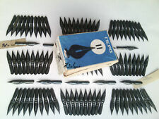 Soviet Ink Dip Calligraphy Fountain Pen Nibs.№11.Lot 100 pcs + box .Vintage USSR