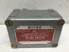 Honeywell Micro Switch EX-AR 3 Explosion Proof Switch