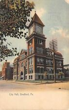 Bradford Pennsylvania~City Hall~Castle Next Door~1910 Color Rotograph Postcard