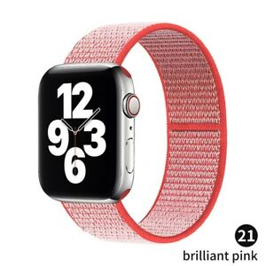 Nylon Loop Strap iWatch bracelet correa for apple watch 6 5 4 3 se band Men Wome