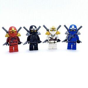 LEGO Minifigures Lot of 4 Ninjago ZX Ninjas Jay Zane Kai Cole Katana with Swords
