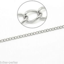 JP 10M Silver Tone Stainless Steel Links-Soldered Cross Chains 3.5x2.5mm
