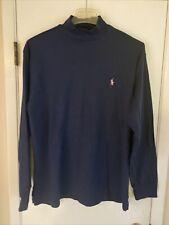 Ralph Lauren Polo Men's Blue Long Sleeve Golf Shirt Size L