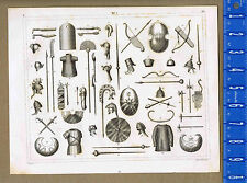 Weapons & Armor of Egyptians, Medes & Persians - 1851 Heck Military Sciences